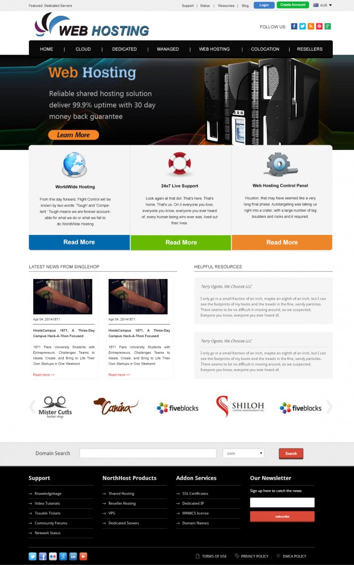 Web Hosting Web Smart Technologies Mohali